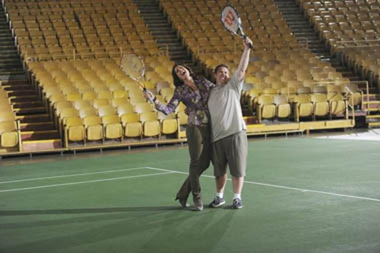 "Mr. Sunshine - Season 1 - ""Celebrity Tennis"" - Allison Janney, Nate Torrence"