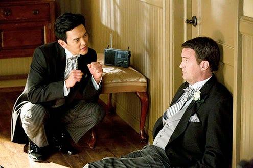 "Go On - Season 1 - ""Urn-ed Run"" - John Cho and Matthew Perry"