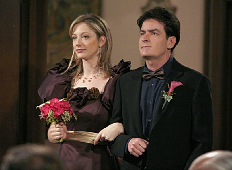 """Two and a Half Men - """"Aunt Myra Doesn't Pee A Lot"""" - Judy Greer, Charlie Sheen"""
