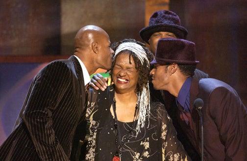 Keenen Ivory Wayans, Mrs. Wayans, Damon Wayans and Marlon Wayans - BET Comedy Awards, Sept. 2004