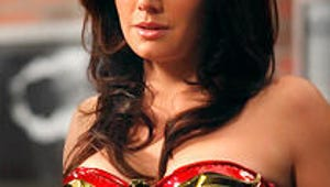First Look: Smallville's Erica Durance Suits Up as Wonder Woman on Harry's Law