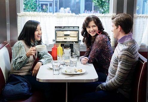"The Carrie Diaries - Season 1 - ""Dangerous Territory"" - Ellen Wong, Katie Findlay and Brendan Dooling"