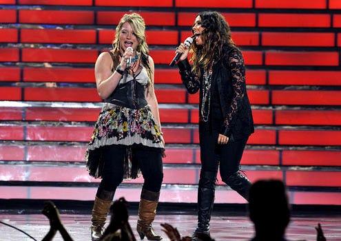 American Idol - Season 9 - Crystal Bowersox and Alanis Morissette