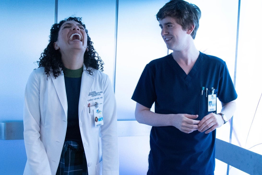 Jasika Nicole and Freddie Highmore, The Good Doctor