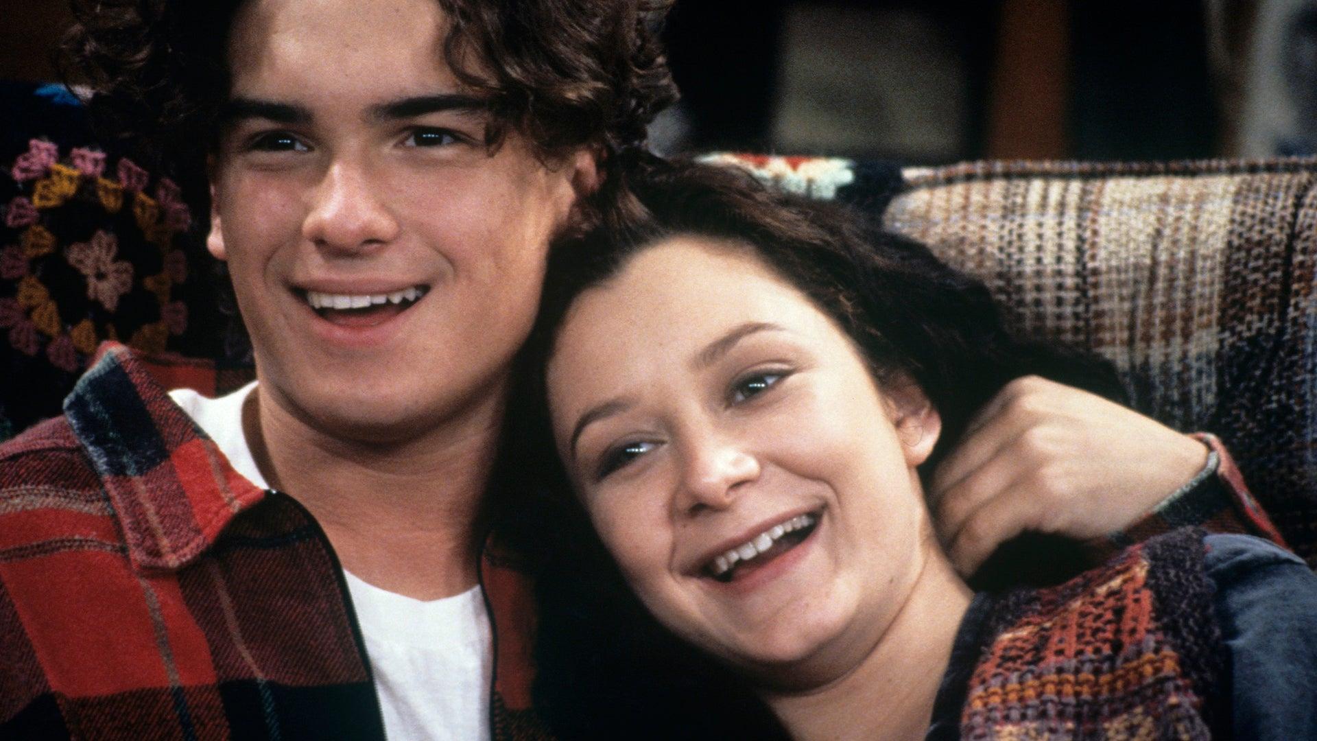 Johnny Galecki and Sara Gilbert, Roseanne