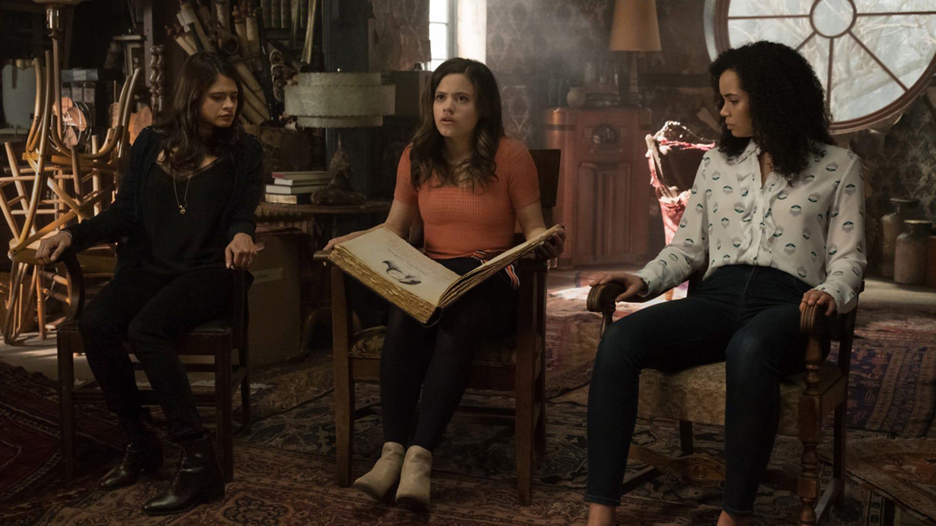 Melonie Diaz, Sarah Jeffrey and Madeleine Mantock, Charmed