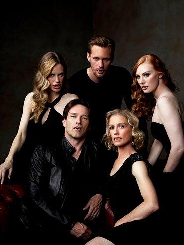 True Blood - Season 4 - Kristin Bauer van Straten, Stephen Moyer,  Alexander Skarsgard, Jessica Tuck and Deborah Ann Woll