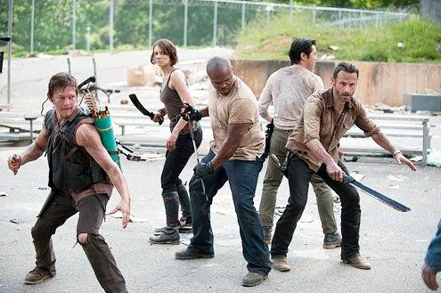 "The Walking Dead - Season 3 - ""Seed"" - Norman Reedus, Lauren Cohan, Robert ""IronE"" Singleton, Steven Yeun and Andrew Lincoln"