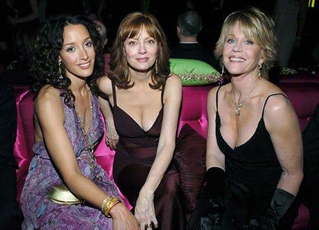 Jennifer Beals, Susan Sarandon and Jane Fonda - The 61st Annual Golden Globe Awards - InStyle/ Warner Bros Golden Globe After Party
