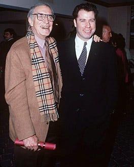 John Travolta and Martin Landau - The 20th Annual L.A. Film Critics Awards, January 17, 1995