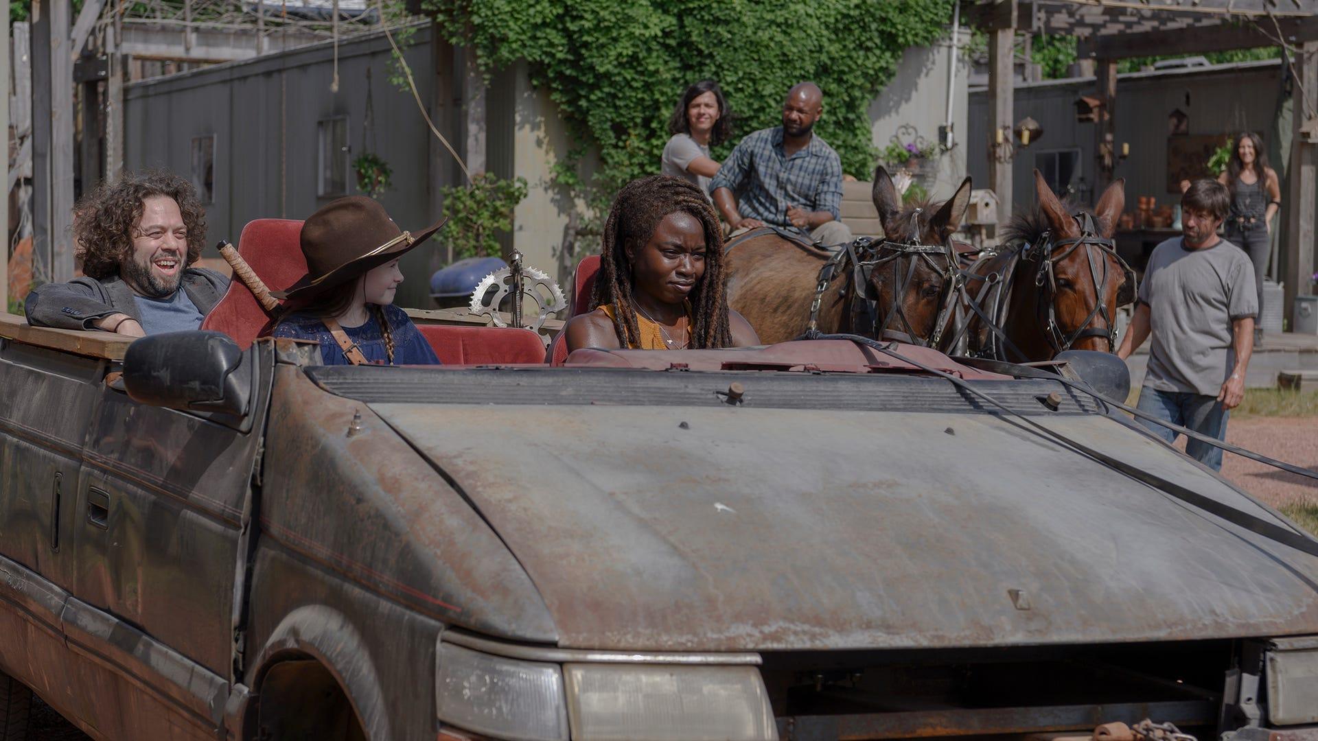 Dan Fogler, Cailey Fleming, and Danai Gurira, The Walking Dead