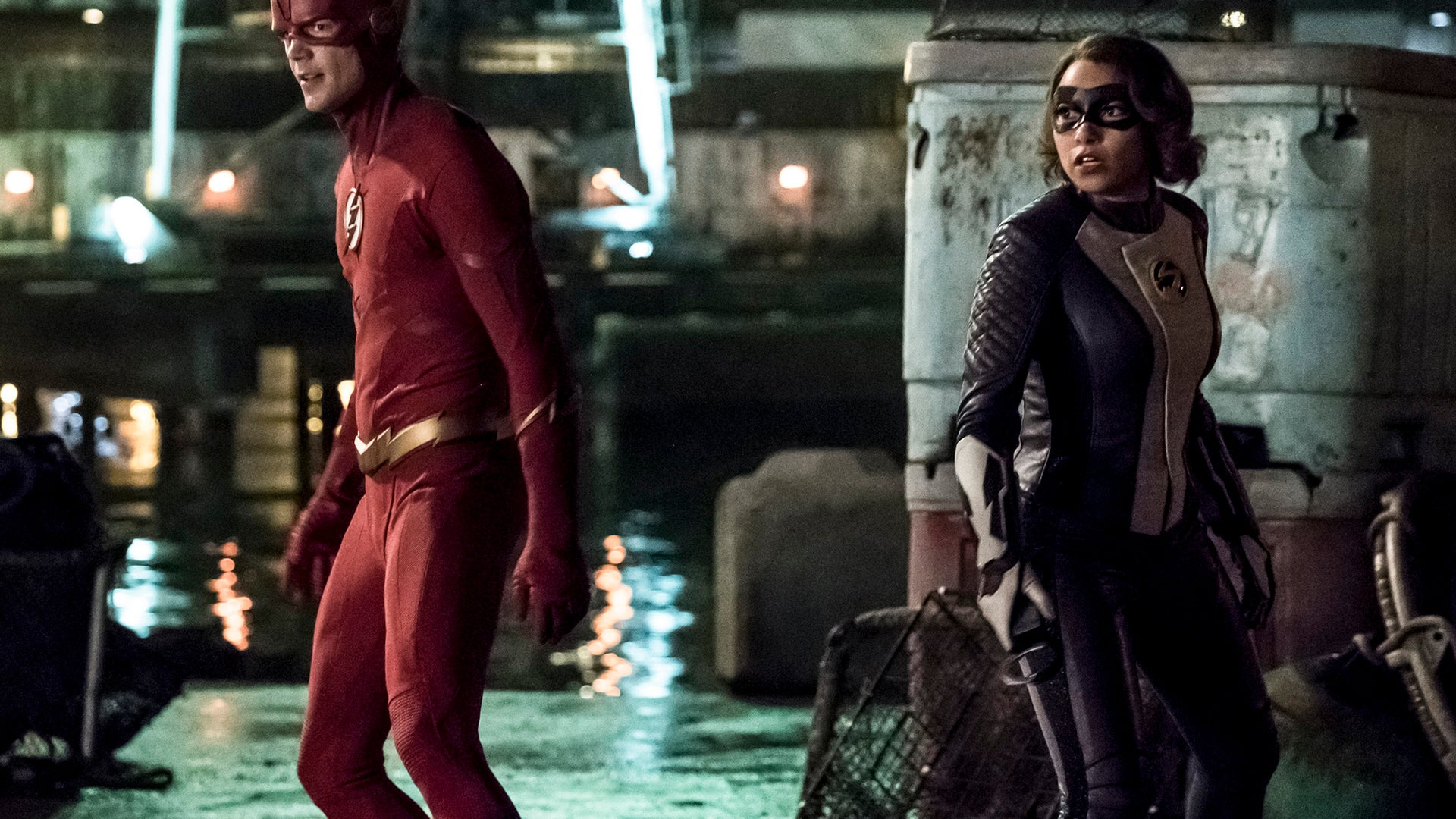Grant Gustin and Jessica Parker Kennedy, The Flash
