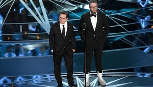 Seth Rogen and Michael J. Fox Got Out of a DeLorean On Stage at the Oscars