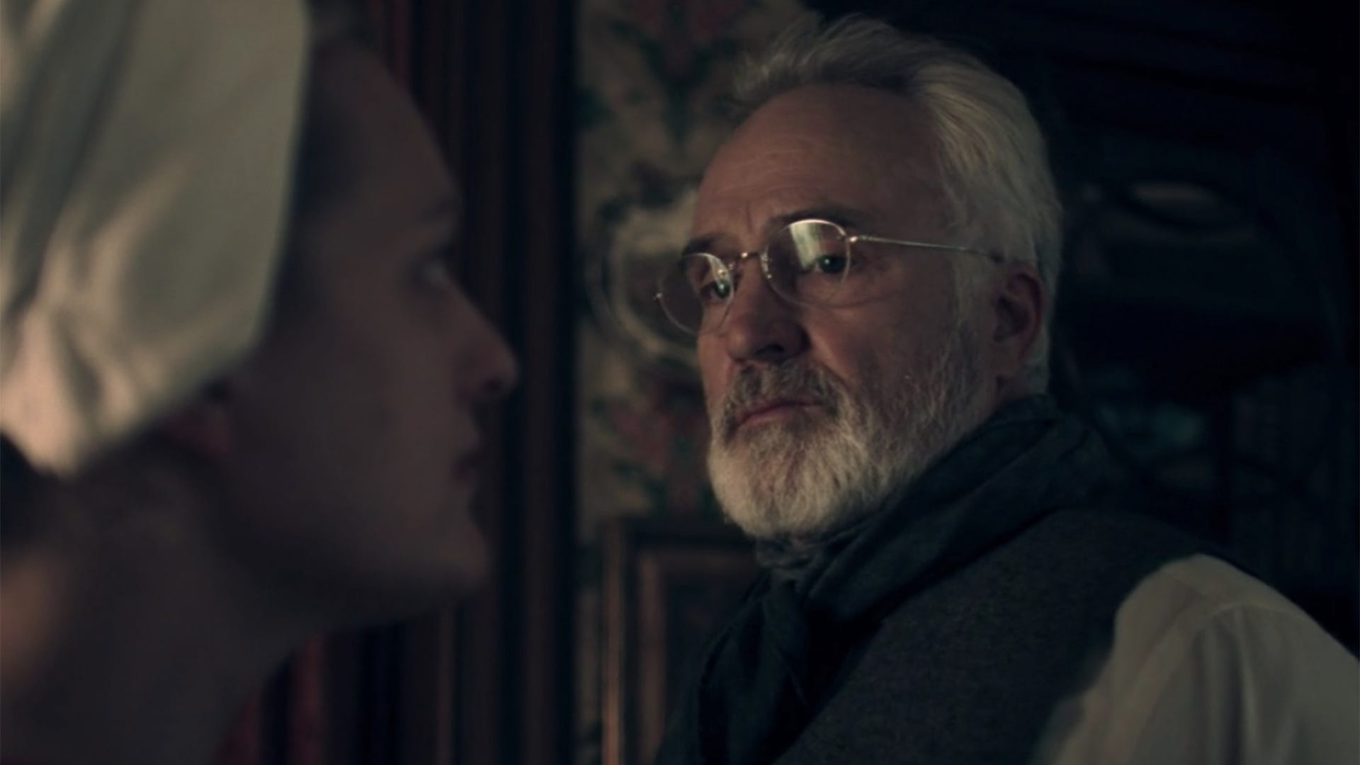 Elisabeth Moss and Bradley Whitford, The Handmaid's Tale