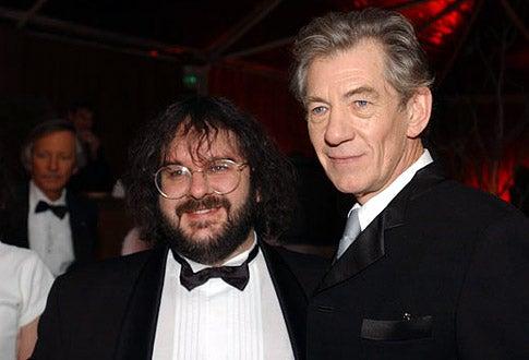 Peter Jackson & Sir Ian McKellen - 59th Annual Golden Globe Awards
