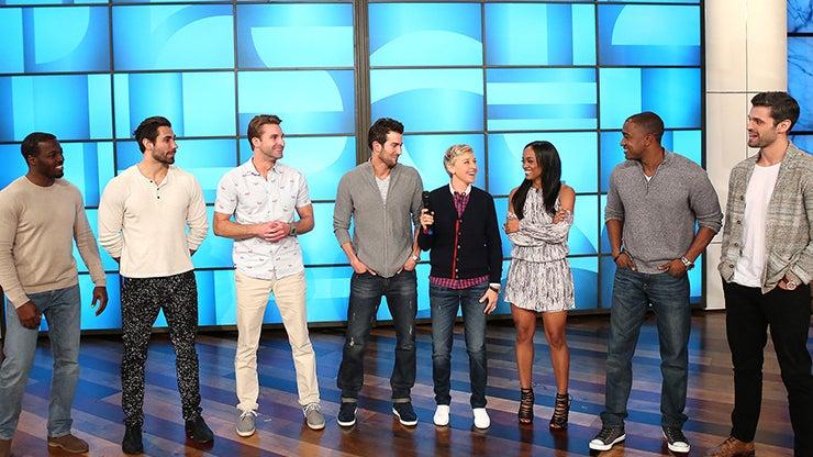 Fred, Alex, John, Brian, Ellen DeGeneres, Rachel Lindsay, Willy and Pete, The Ellen DeGeneres Show
