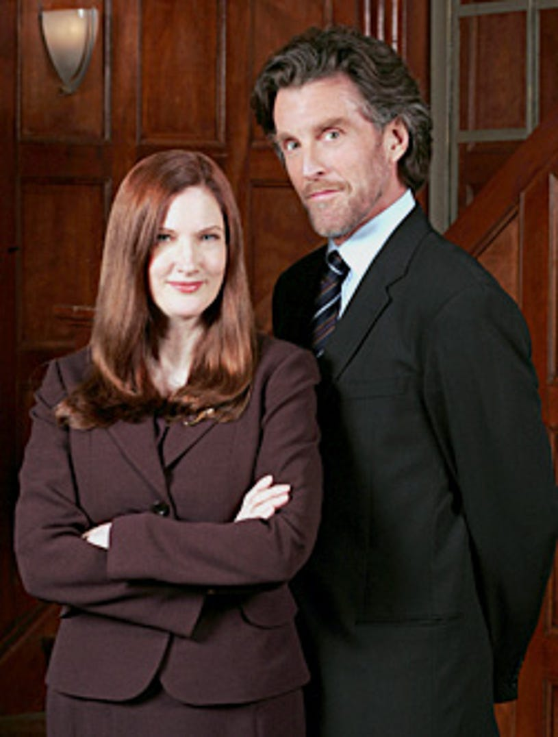 """Smallville - """"Prototype"""" - Annette O'Toole as Martha Kent, John Glover as Lionel Luthor"""
