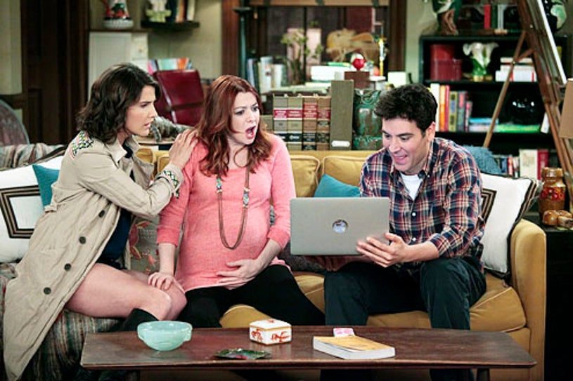"""How I Met Your Mother - Season 7 - """"The Magician's Code Part One"""" - Cobie Smulders, Alyson Hannigan and Josh Radnor"""