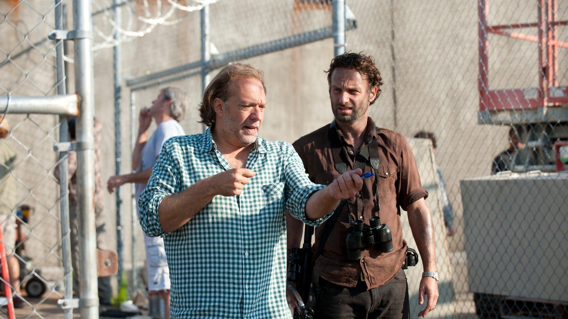 CoExecutive Producer/SFX Makeup Supervisor Greg Nicotero and Rick Grimes (Andrew Lincoln), The Walking Dead