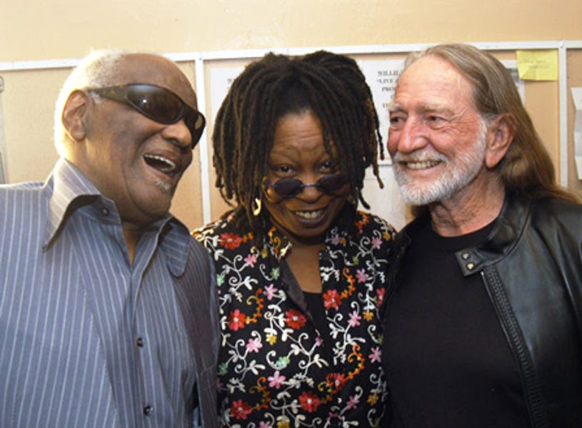 """Ray Charles, Whoopi Goldberg and Willie Nelson - """"Willie Nelson and Friends: Live and Kickin'"""", May 2003"""