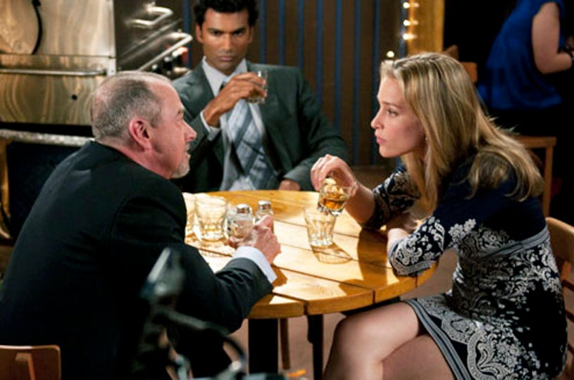 "Covert Affairs - Season 1 - ""In the Light"" - Gregory Itzin as Henry Wilcox, Sendhil Ramamurthy as Jai Wilcox, Piper Perabo as Annie Walker"