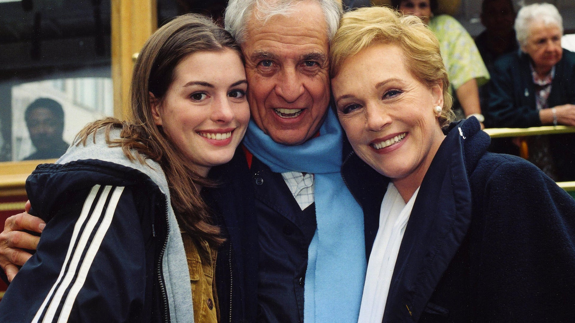 Anne Hathaway, Garry Marshall, and Julie Andrews