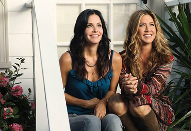"""Cougar Town - Season 2 - """"All Mixed Up"""" - Courtney Cox and Jennifer Aniston"""