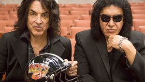 Gene Simmons and KISS Take the Field for AMC's 4th and Loud
