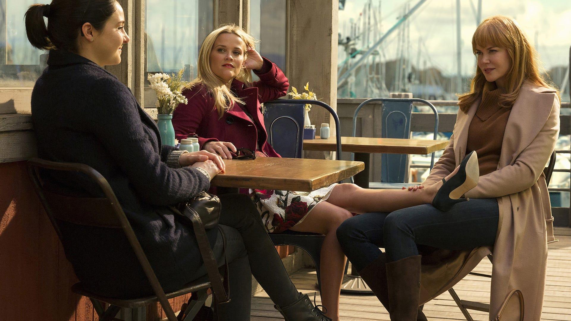 Shailene Woodley, Reese Witherspoon, Nicole Kidman; Big Little Lies