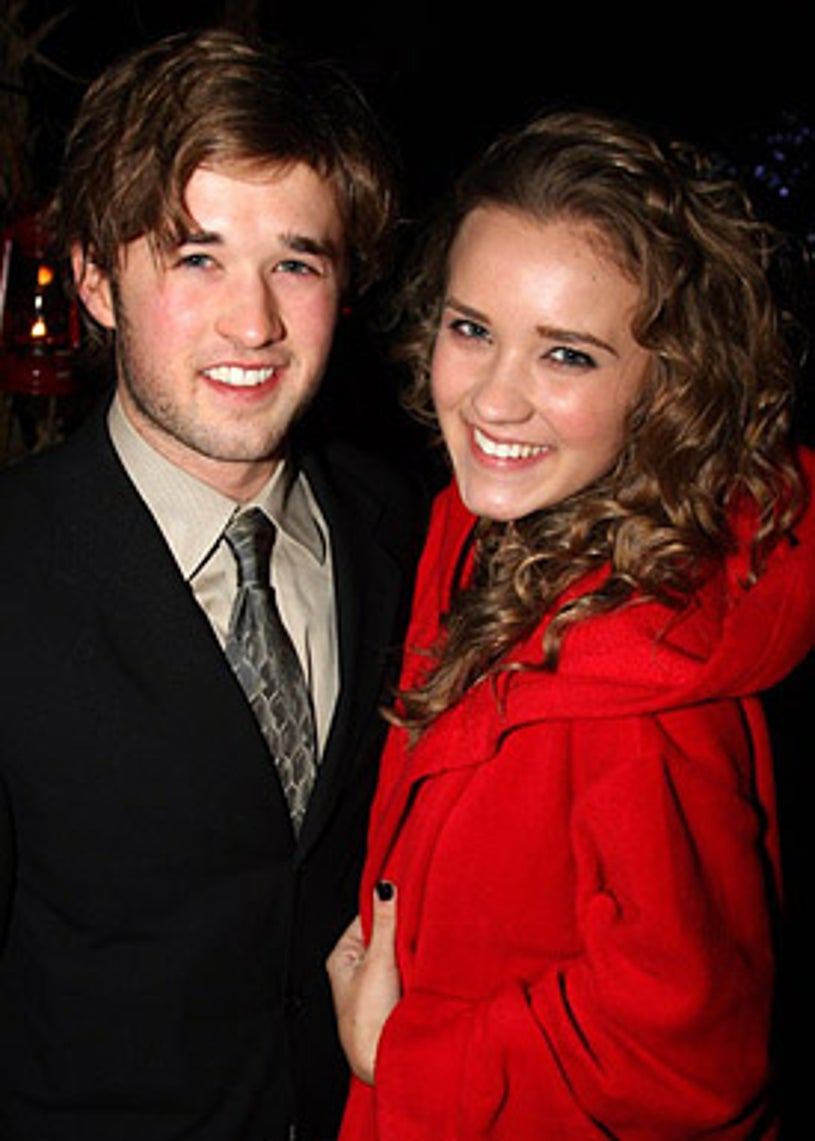 """Haley Joel Osment and sister Emily Osment - The opening night after party for David Mamet's Revival of """"American Buffalo"""" on Broadway  in New York City, November 17, 2008"""