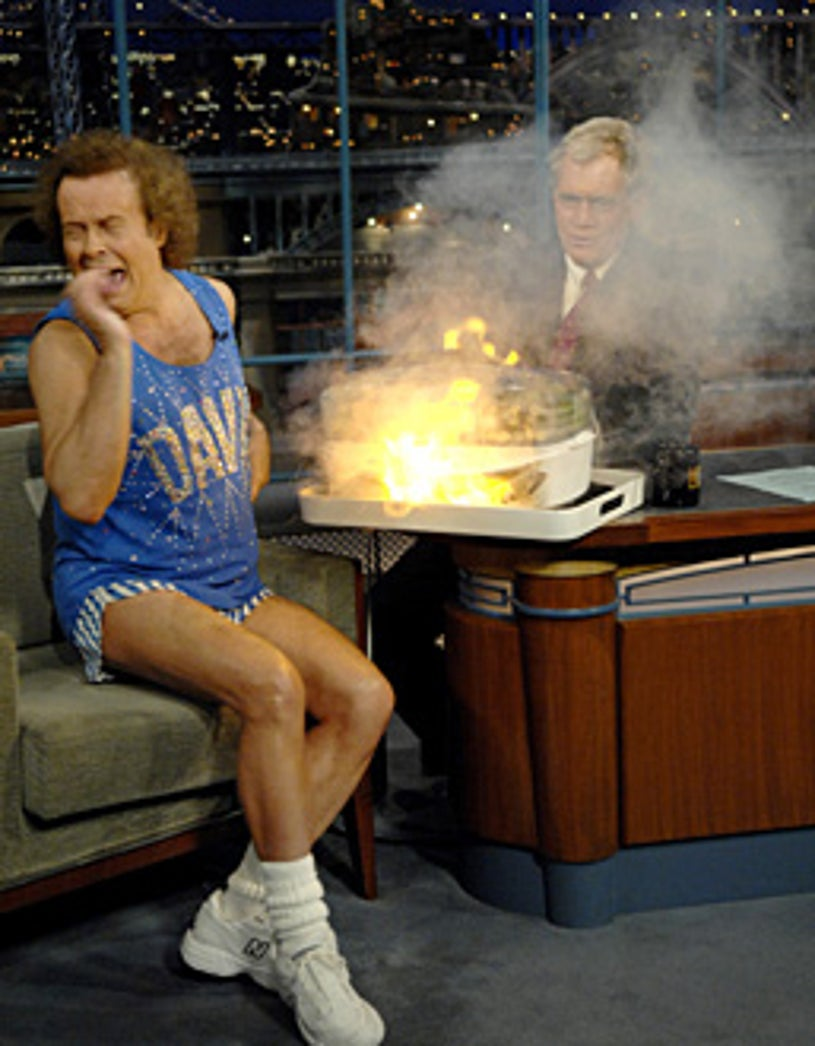 Late Show With David Letterman - Guest, Richard Simmons with David Letterman - airdate 11/29/2006