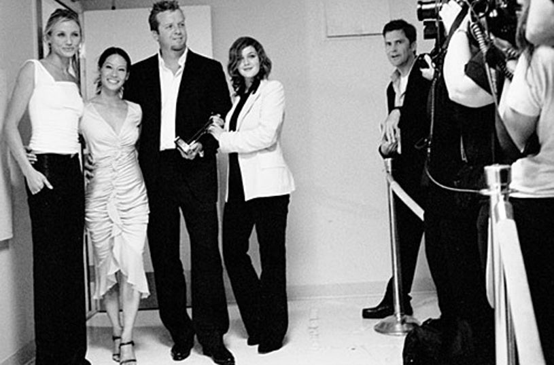 Cameron Diaz, Lucy Liu, McG and Drew Barrymore - Hollywood Film Festival's Hollywood Movie Awards - Oct. 2002