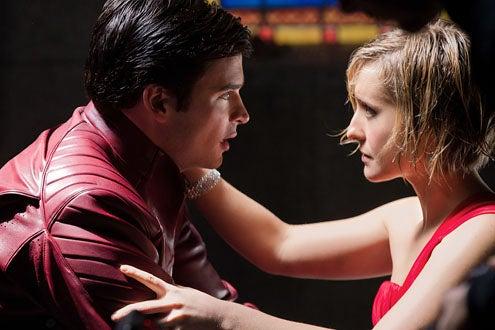 "Smallville - Season 10 - ""Masquerade"" - Tom Wlling as Clark Kent and Allison Mack as Chloe Sullivan"