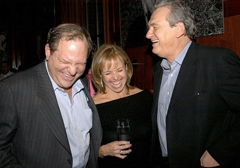 Harvey Weinstein, Katie Couric and Jack Kliger - Launch of Sandra Lee's New Semi-Homemade Holidays Magazine and Food Network Show