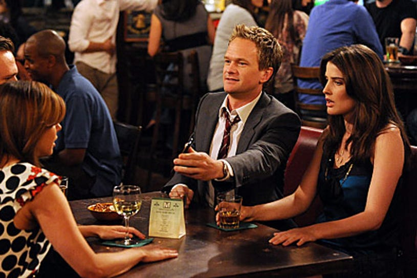 """How I Met Your Mother - Season 5 - """"Robin 101"""" -Guest star Alyson Hannigan as Lily, Neil Patrick Harris and Cobie Smulders"""