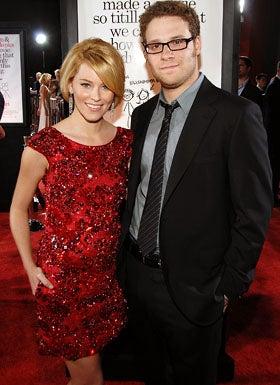 """Elizabeth Banks and Seth Rogen  - The """"Zack & Miri Make A Porno"""" premiere, October 20, 2008"""