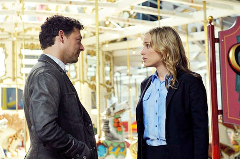 """Covert Affairs - Season 3 - """"Glass Spider"""" - Richard Coyle and Piper Perabo"""