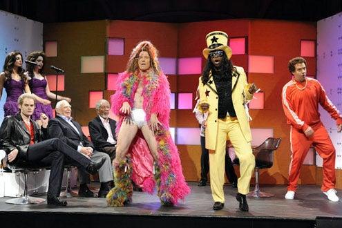 "Saturday Night Live - Season 36 - ""Bryan Cranston"" - Bill Hader, Morgan Freeman and Bryan Cranston"