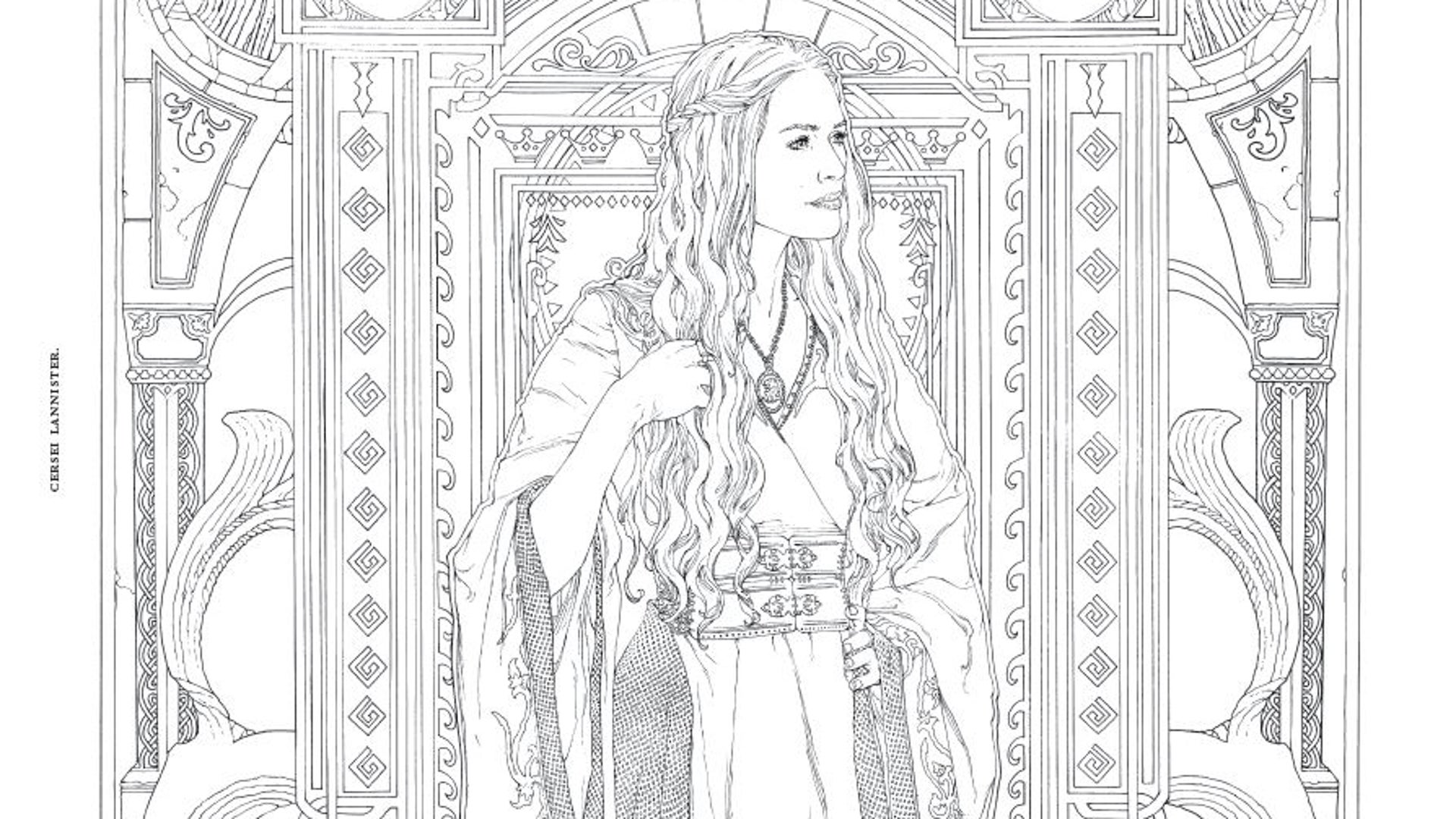 HBO's Game of Thrones Coloring Book: Cersei Lannister