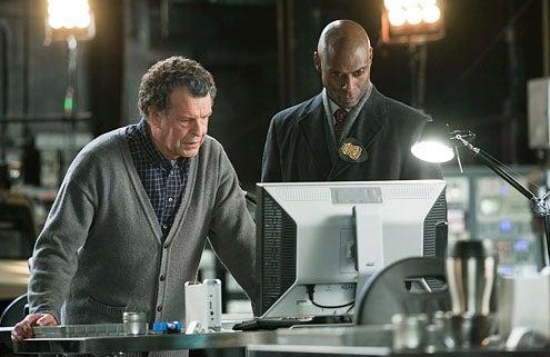 "Fringe - Season 3 - ""The Day We Died"" - John Noble as Walter Bishop and Lance Reddick as Phillip Broyles"