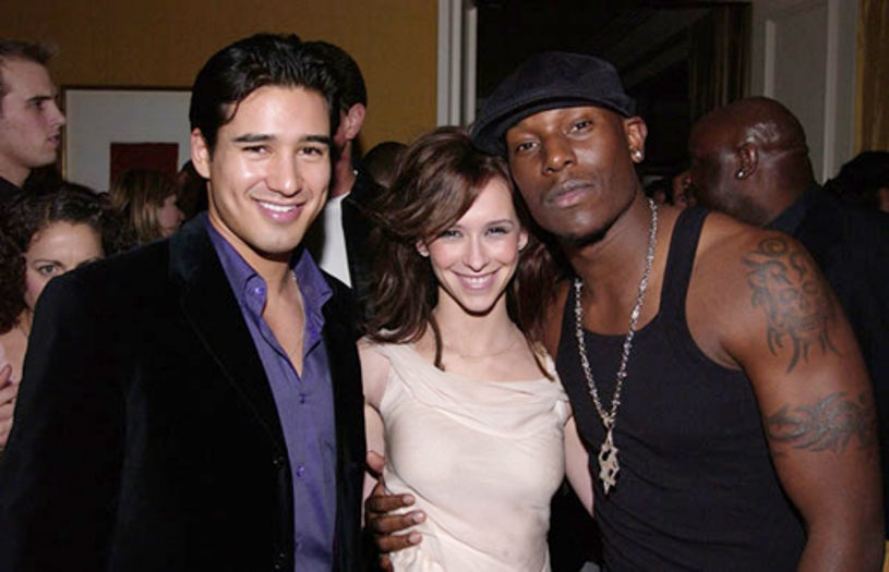 Mario Lopez, Jennifer Love Hewitt, and Tyrese -  American Music Awards party, January 9, 2002