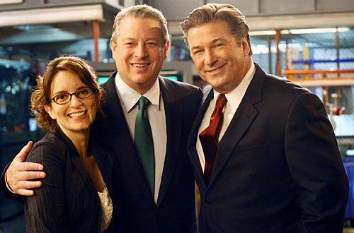 """30 Rock - Season 2 - """"Greenzo"""" - Tina Fey as """"Liz Lemon"""", Al Gore as himself,  Alec Baldwin as """"Jack Donaghy"""""""