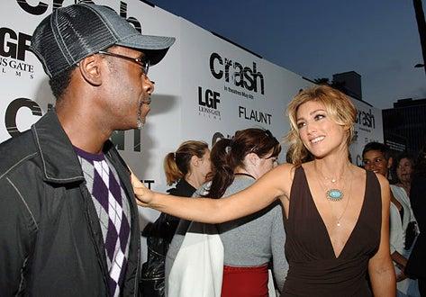 """Don Cheadle and Jennifer Esposito - """"Crash"""" Los Angeles premiere, April 26, 2005"""