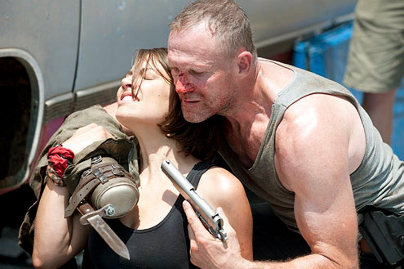 """The Walking Dead - Season 3 - """"Hounded"""" - Lauren Cohan and Michael Rooker"""
