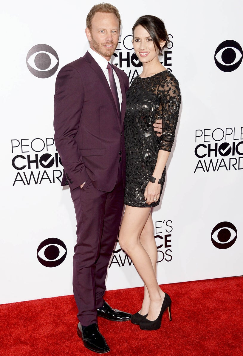 Ian Ziering and wife Erin Kristine Ludwig - 40th Annual People's Choice Awards in Los Angeles, California, January 8, 2014