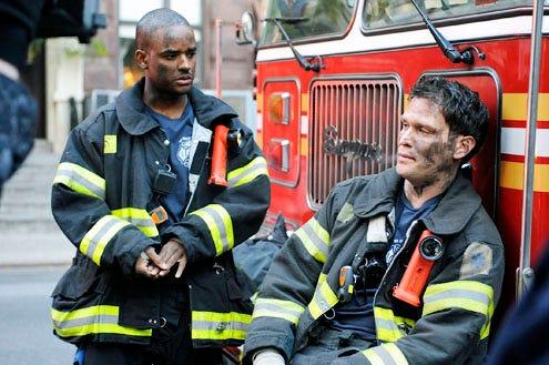 """Rescue Me - Season 6 - """"Comeback"""" - Larenz Tate and Steven Pazquale"""