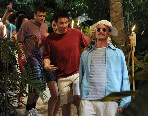 "How I Met Your Mother - Season 8 - ""Weekend at Barney's"" - Jason Segel, Josh Radnor, Neil Patrick Harris"