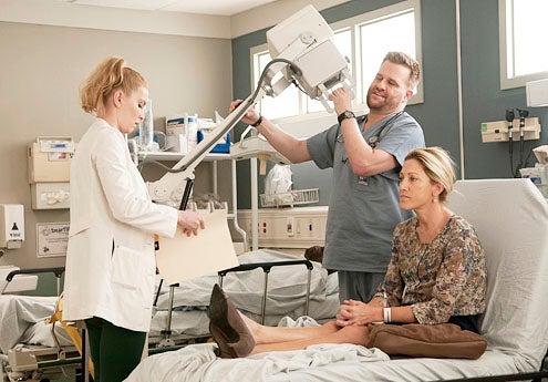"Nurse Jackie - Season 5 - ""Smile"" - Betty Gilpin, Stephen Wallem and Edie Falco"