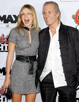 "David Carradine and daughter Ever Carradine - ""Kill Bill: Vol 1"" premiere, Hollywood, September 29, 2003"