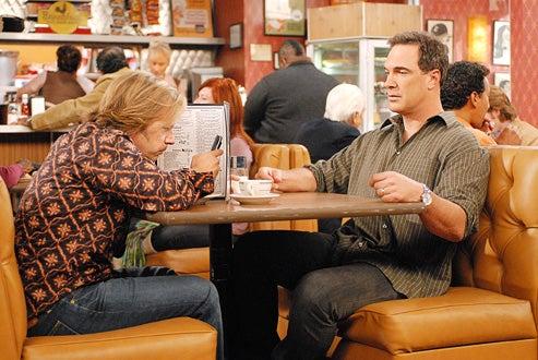 "Rules of Engagement - Season 2, ""Mr. Fix It"" - David Spade as Russell, Patrick Warburtonas Jeff"